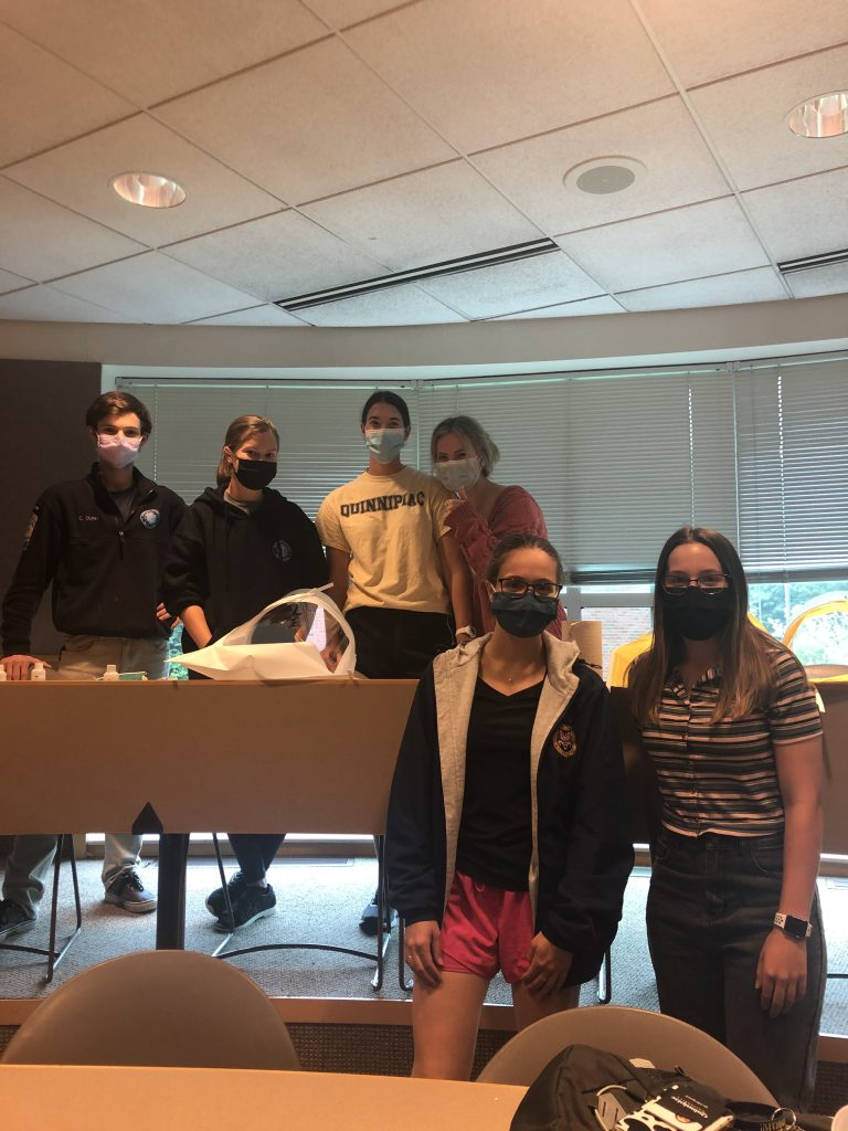 QU EMS Members at pre-semester training